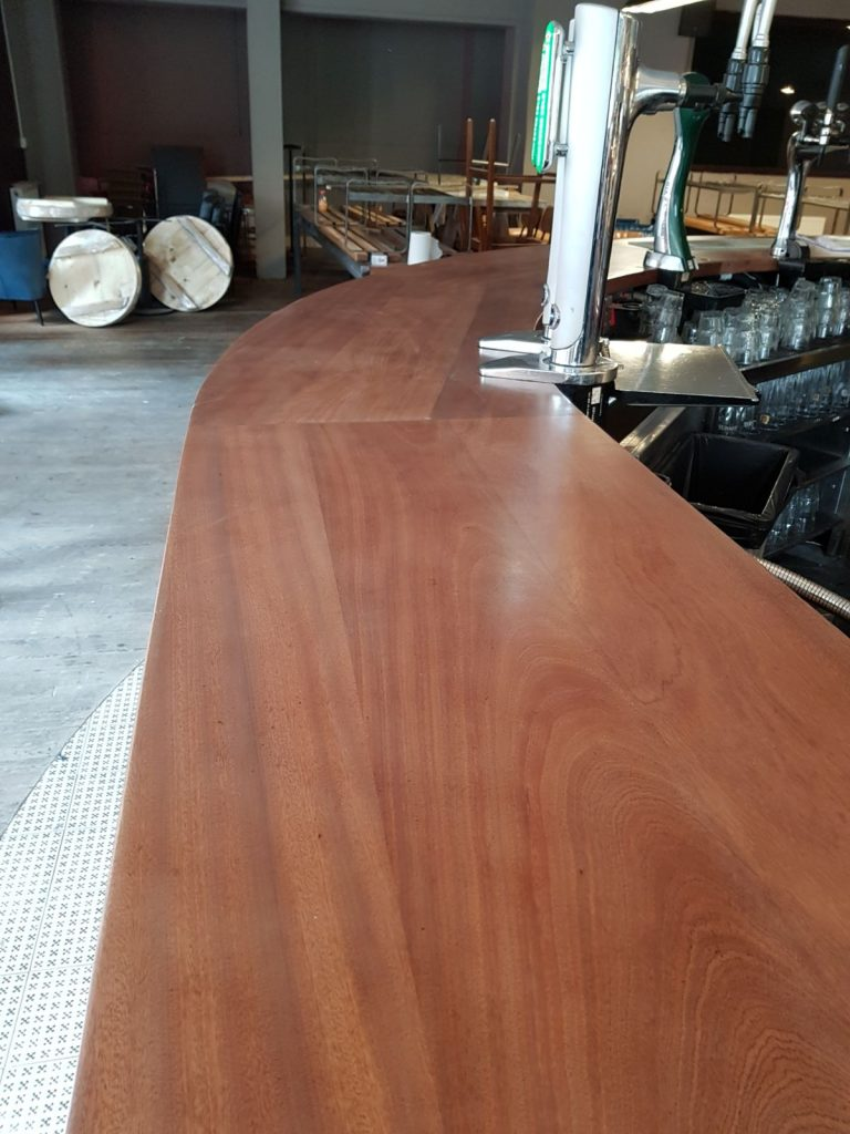 The Bar - Bar Being Stained and Finished